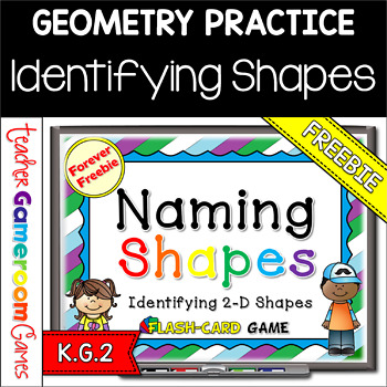 FREEBIE - Identifying Shapes Powerpoint Flash Cards