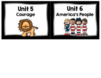 FREEBIE - Imagine It Unit Labels - 2nd grade