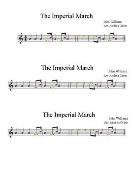 FREEBIE! Imperial March Boomwacker Score