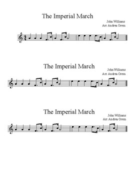 FREEBIE Imperial March - Recorder