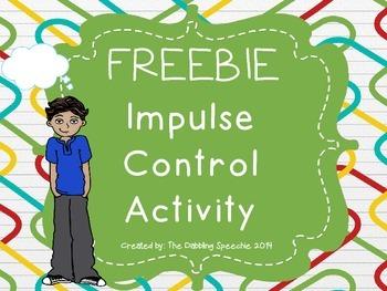 FREEBIE Impulse Control Activity