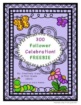 Spring FREEBIE! In honor of 300 Followers on TPT