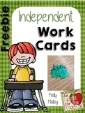 FREEBIE Independent Work Cards - I Need Help Cards