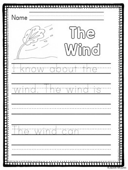 FREEBIE  Informational Text and Writing: The Weather