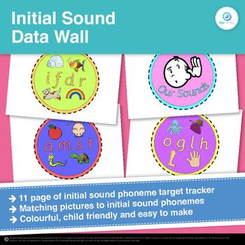 FREEBIE Initial Sound Data Wall Target Tracker Clip Chart
