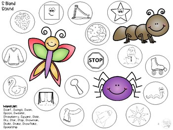 FREEBIE! Insects and Bugs Worksheets: S Blends and Multiple Meaning Words
