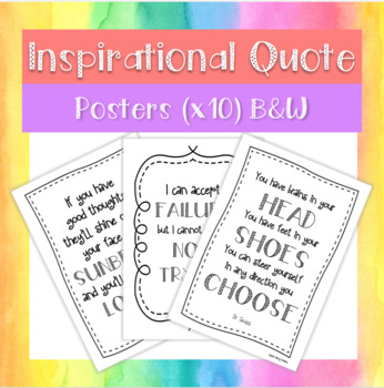 FREEBIE Inspirational Posters (Black & White)