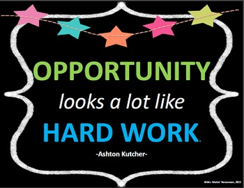 FREEBIE Inspirational Quote Poster - Opportunity
