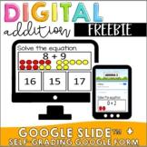 FREEBIE | Interactive Addition Google Slides + Self-grading Forms