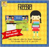 FREEBIE! Interactive Calendar for SMART Board PK, K, 1st
