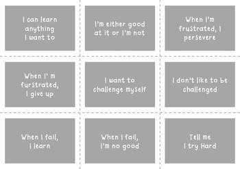 FREEBIE Interactive Growth Mindset Notebook & Powerpoint Printable Activity