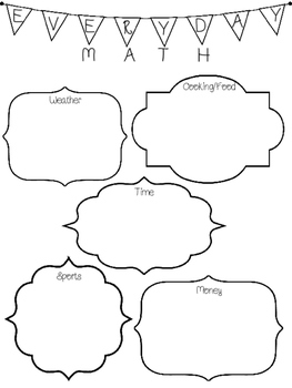 FREEBIE! Interactive Math & Me & Everyday Math Posters
