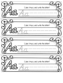 FREEBIE Interactive Notebook {Letter of the Week - Letter A} D'nealian Style