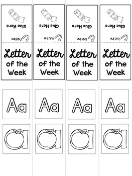FREEBIE Interactive Notebook {Letter of the Week - Letter A} Primary Style