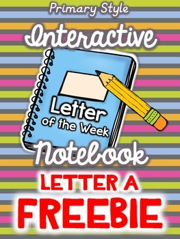 FREEBIE Interactive Notebook {Letter of the Week - Letter