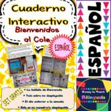FREEBIE Interactive Notebook (Welcome to School) En Español