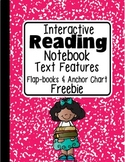 FREEBIE: Interactive Reading Notebook Text Features Flap-books & Anchor Chart