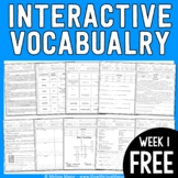 FREEBIE - Interactive Vocabulary - Week 1 - 3rd Grade