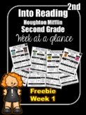 FREEBIE Into Reading Second Grade Week at a Glance Houghto