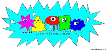 FREEBIE - Irene's Doodles - French clipart - La rentrée des classes