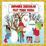 FREEBIE!! Irregular Past Tense Verb Snowmen Match Up + worksheets