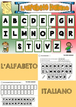 FREEBIE - Italian Classroom Posters and worksheets
