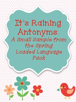 FREEBIE It's Raining Antonyms