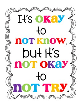 {FREEBIE} It's okay to not know, but it's not okay to not