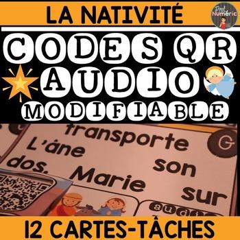 FREEBIE - JOUER AVEC LES MOTS + CODES QR AUDIO - LA NATIVITÉ -