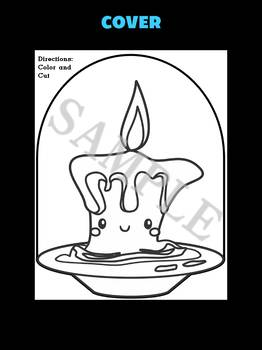FREEBIE : Jackie's Crafts - Cute Candle Craftivity, Activity, craft, writing