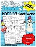 FREE January Kindergarten Morning Seat Work - Common Core Aligned - I Can Poster