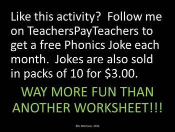 FREEBIE January Phonics Joke
