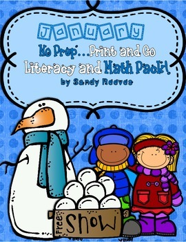 FREEBIE January Winter Math and Literacy Print and Go