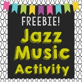 FREEBIE Jazz Music Collage Project for Black History Month