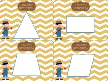 FREEBIE! Johnny Appleseed Touch Mats for SHAPES