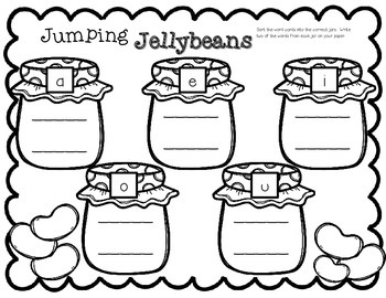 FREEBIE--Jumping Jellybeans Vowel Sort for K-1