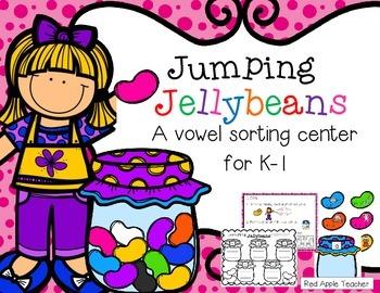 FREEBIE--Jumping Jellybeans Vowel Sort for K-1