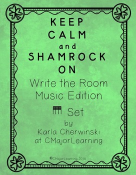 {FREEBIE} Keep Calm and Shamrock On! Write the Room Music Edition tika tika Set