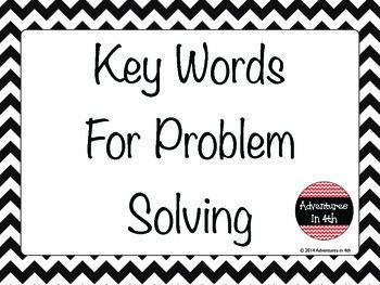 FREEBIE - Key Words for Math