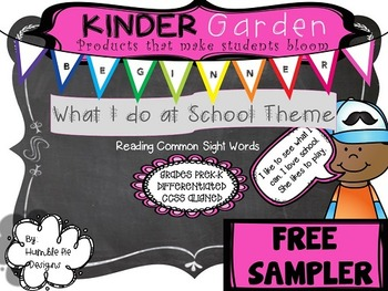 FREEBIE~Kinder Garden: Level: Beginner- What I do at School Easy Readers