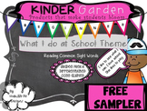 FREEBIE~Kinder Garden: Level: Beginner- What I do at Schoo