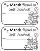 FREEBIE Kindergarten & 1st Grade February & March Read to Self Journal