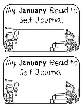 FREEBIE Kindergarten & 1st Grade January Read to Self Journal