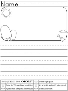 FREEBIE: Kindergarten First Grade Writing Journal: Back to School