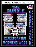 FREEBIE - Kindergarten Morning Work Bundle SAMPLER- Math a