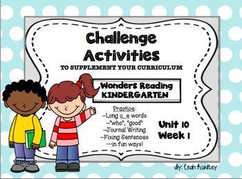 Freebie--U_E Words--Wonders Kindergarten