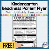 FREEBIE- Kindergarten Readiness Parent Information Flyer