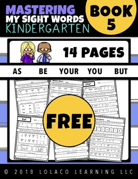FREEBIE - Kindergarten Sight Words: (NO PREP) Book 5