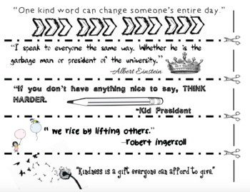 FREE: Kindness Chain: Daily Quotes & Challenges