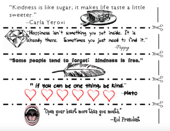 FREE: SEL Character Education- Kindness Chain: Daily Quotes & Challenges